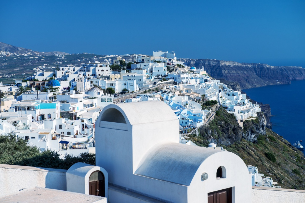 'Architecture and colors of Imerovigli, village in Santorini.' - Σαντορίνη